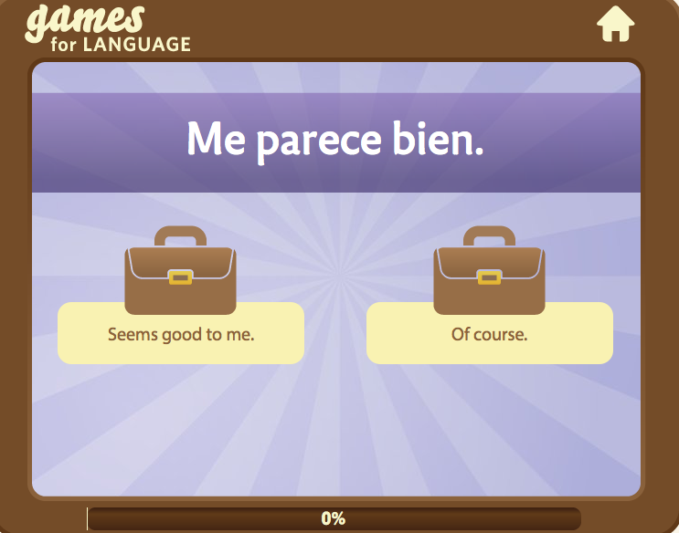Spanish phrase game - Gamesforlanguage.com
