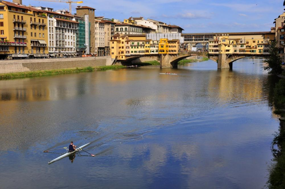 View of Ponte Vecchio and Arno River