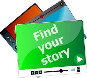Find your stories screen