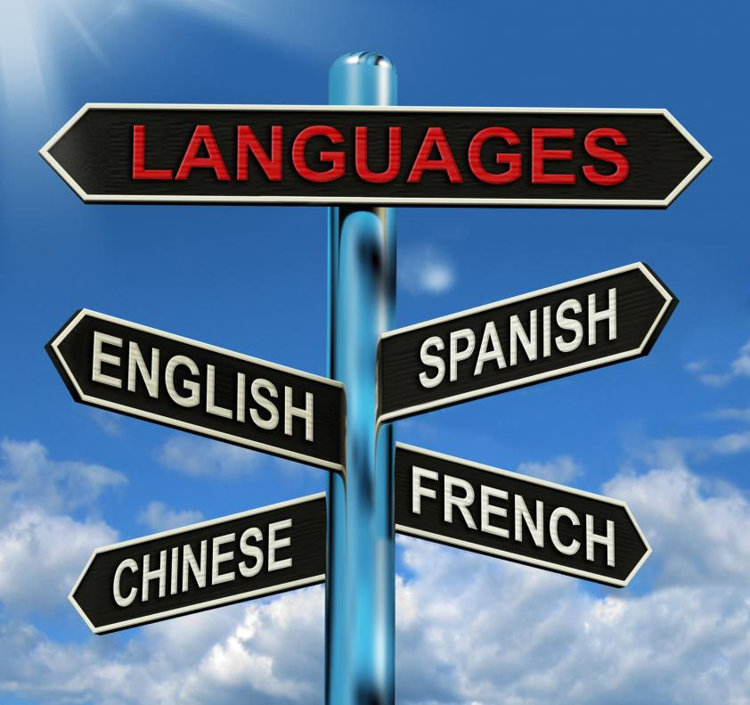 languages sign - Gamesforlanguage.com