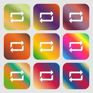 9 Repeat icons