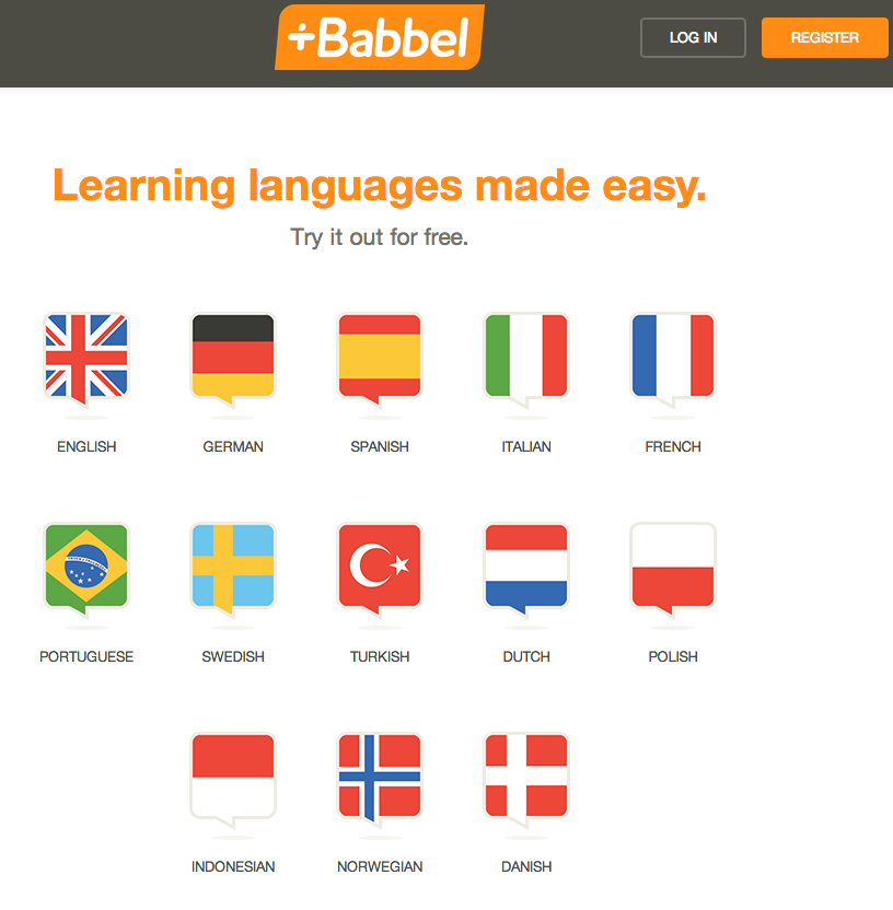 Babbel Home Page