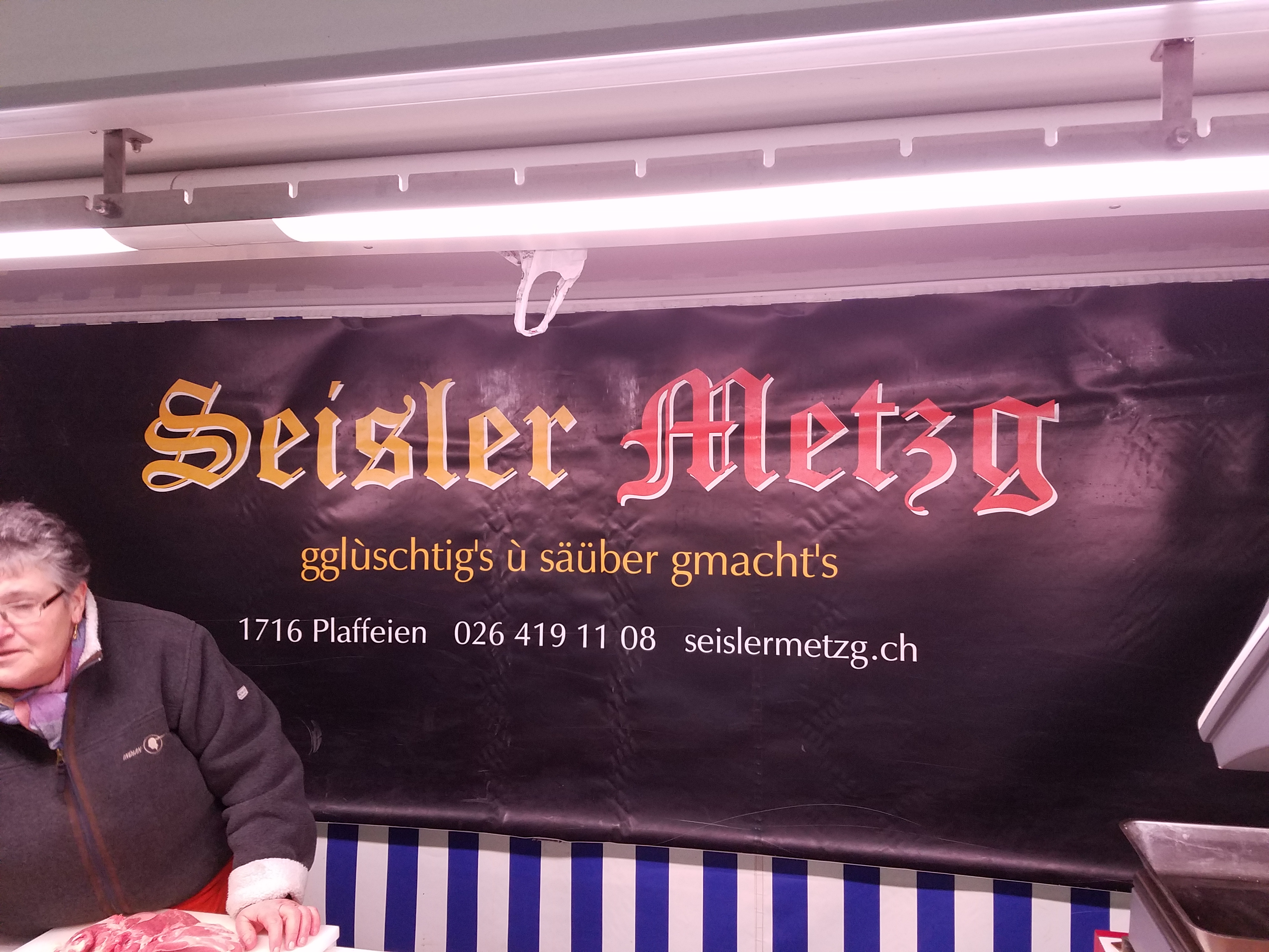 Swiss-German Butcher sign - Gamesforlanguage.com