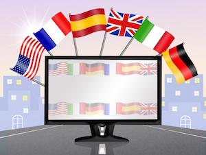 national flags on TV
