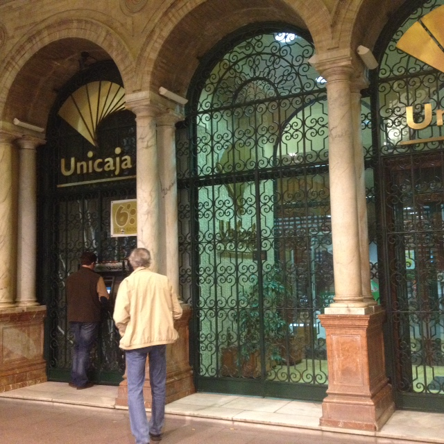 Unicaja bank branch Seville, Spain