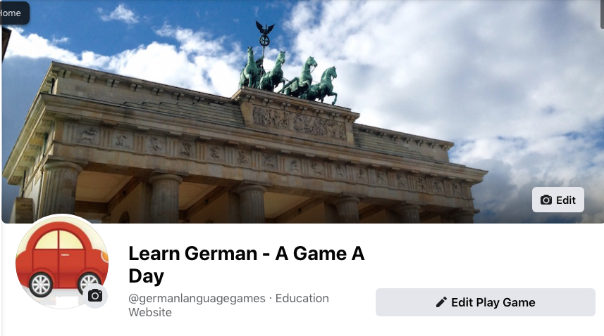 Learn German - A Game A Day Facebook Page