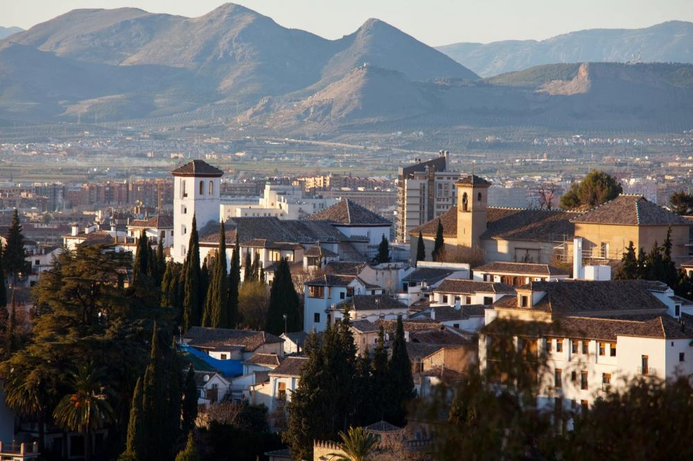 Granada with Sierra Nevada in background