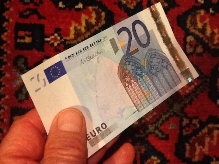 20 Euro note - Gamesforlanguage.com