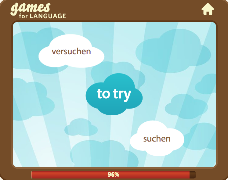 """suchen vs versuchen"" German Language Game with prefix ""ver-"""