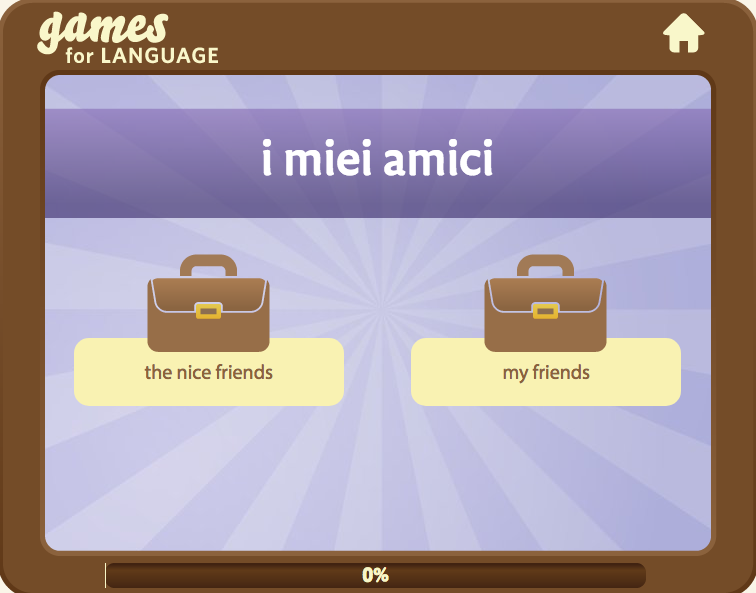 Gamesforlanguage.com: Italian articles language game