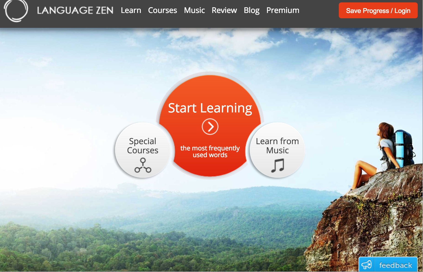 Language Zen home page